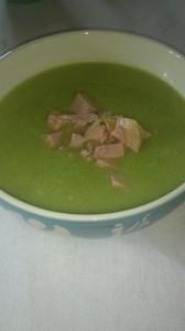 blomkålbroccoli soppaskinka