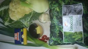 råvaror till soppa