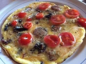 pizza omelett